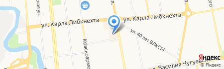 Калинка на карте Ижевска