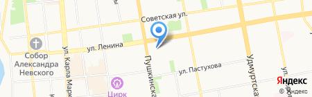 IzhParty на карте Ижевска