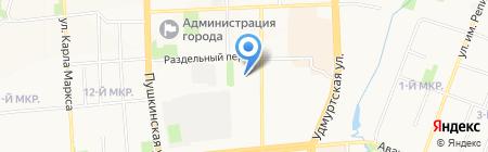 Подвал на карте Ижевска