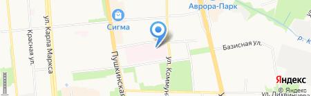 Республиканская детская клиническая больница на карте Ижевска