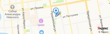 Городской землеустроительный центр на карте Ижевска