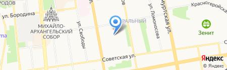 Средняя общеобразовательная школа №40 на карте Ижевска
