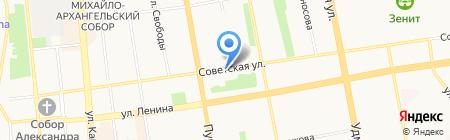 Фэнси на карте Ижевска