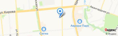 Апельсин тур на карте Ижевска