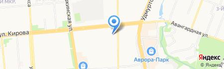 С легким паром на карте Ижевска
