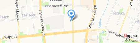 Ирика на карте Ижевска