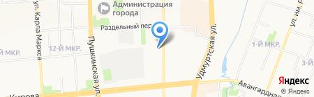 Рада на карте Ижевска