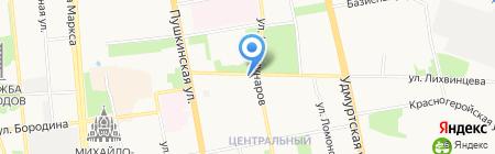 Единая справочная г. Ижевска на карте Ижевска