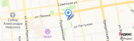 Детский сад №34 на карте Ижевска