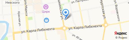 ДЮСШ по шахматам на карте Ижевска