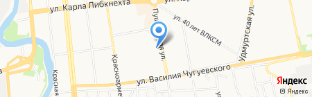 Амигос на карте Ижевска