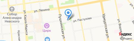 Стоматологический салон на Пушкинской на карте Ижевска