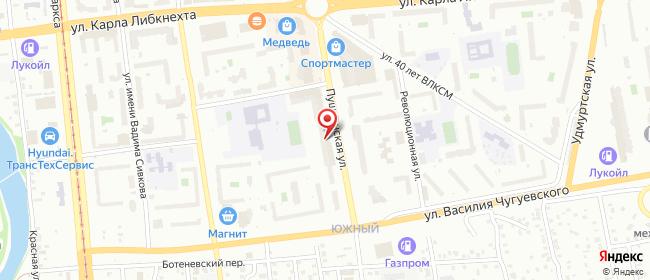 Карта расположения пункта доставки Westfalika в городе Ижевск