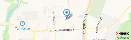 Детский сад №290 на карте Ижевска