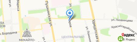 Винтекс на карте Ижевска