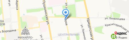 Магазин бытовой химии на карте Ижевска