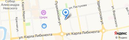 Главное управление специального строительства по территории Урала №8 при Федеральном агентстве Специального строительства на карте Ижевска
