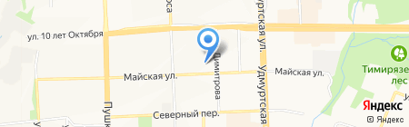Золинг на карте Ижевска