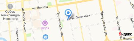 Енисей на карте Ижевска
