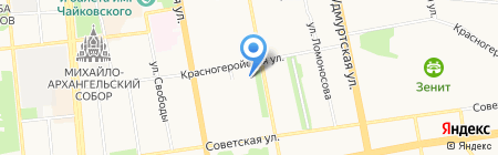 Статский советникъ на карте Ижевска