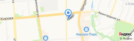 Солнцеворот на карте Ижевска