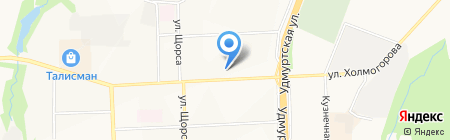 Грин на карте Ижевска