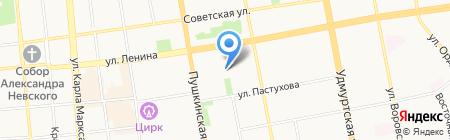 Детский сад №285 на карте Ижевска