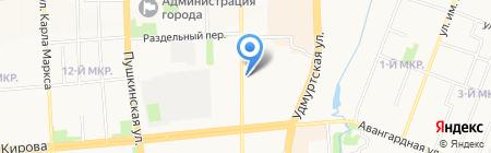 Развитие на карте Ижевска