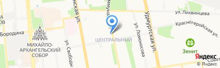 Русские блины на карте Ижевска