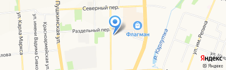 Асаги на карте Ижевска