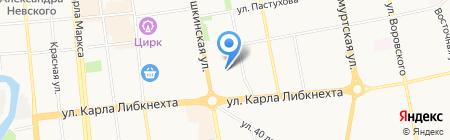 Детский сад №205 на карте Ижевска