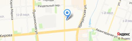 Термоклуб на карте Ижевска