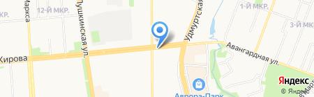 Киоск по продаже бытовой химии на карте Ижевска