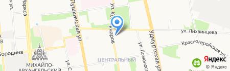 UDMI на карте Ижевска