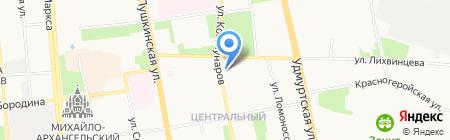 Евразийский открытый институт на карте Ижевска