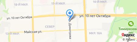 Линда на карте Ижевска