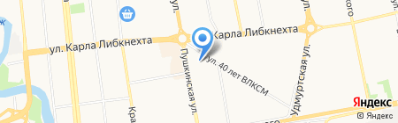 Банкомат АК Барс Банк на карте Ижевска