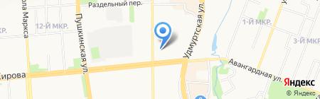 Астра+ на карте Ижевска