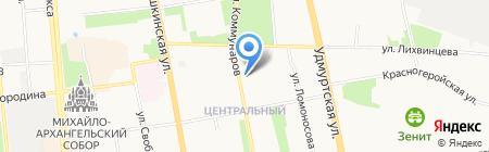 Летас на карте Ижевска