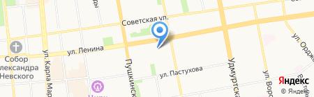 ИрМа на карте Ижевска