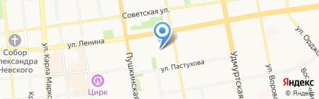 Детский сад №80 на карте Ижевска