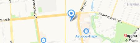 Детский сад №42 на карте Ижевска