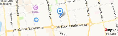 Реестр на карте Ижевска