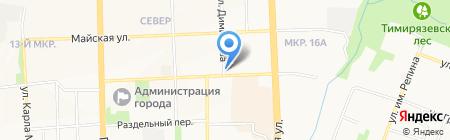 Майская на карте Ижевска