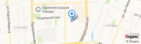 Зодчий на карте Ижевска