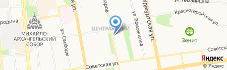 Сеть компьютерных клиник №181 на карте Ижевска