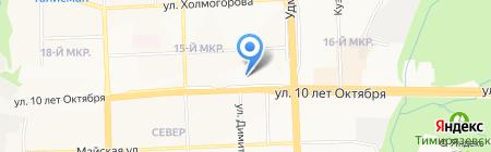 Тихие зори на карте Ижевска