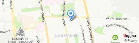 Хатико на карте Ижевска