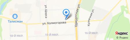 Квартал на карте Ижевска
