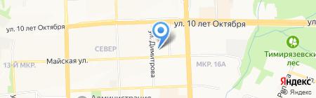 Эрис на карте Ижевска